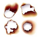 Płonący prześcieradła papier lub ślimacznicy w ogieniu royalty ilustracja