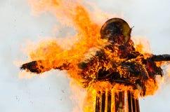 Płonący puszka wizerunek ostatki fotografia royalty free