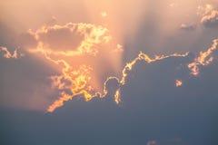 płonący słońca Zdjęcia Royalty Free