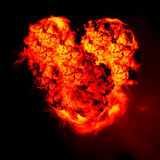 płonący serce Zdjęcie Royalty Free