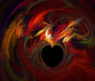 płonący serce Fotografia Stock