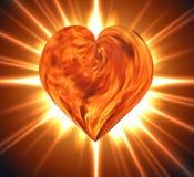Płonący serce royalty ilustracja