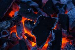 Płonący węgiel fotografia royalty free