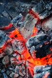 płonący węgla Zdjęcie Royalty Free