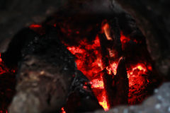płonący węgla Obrazy Royalty Free