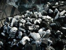 płonący węgla Zdjęcie Stock