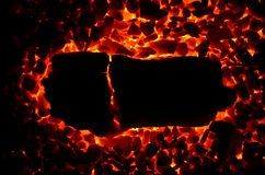 Płonący węglowy antracyt jako tło, fotografia royalty free