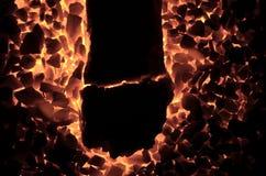 Płonący węglowy antracyt jako tło, zdjęcia royalty free
