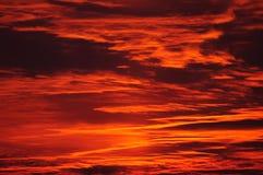 Płonący wieczór niebo Obraz Stock