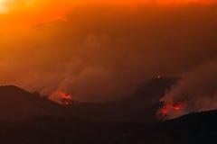 płonący wzgórza zdjęcie royalty free