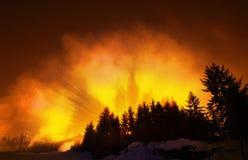 płonący zboczy Fotografia Stock