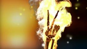 Płonący zredukowany pokoju znak Alfa matująca ilustracja wektor