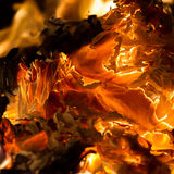Płonie gdy palący papier zdjęcia royalty free