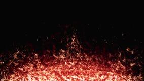 Płonie powierzchnię, płomienia blask na czarnym tle mo dla sztandaru ilustracji