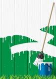 płot pomalowany ilustracja wektor
