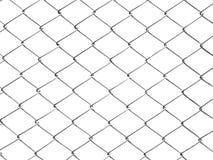 Płotowa białego metalu druciana siatka odizolowywa na białym tle Obrazy Royalty Free