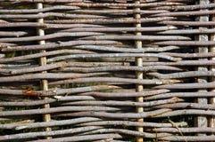 płotowy łozinowy drewniany Obraz Royalty Free