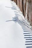 płotowy śnieg Zdjęcia Stock
