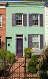 płotowy domu italianate rzędu styl Washington fotografia stock