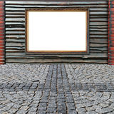 płotowy ramowy złoty specjalny bardzo drewniany Zdjęcia Stock