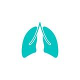 Płuca stała ikona, organ i część ciało, ilustracji