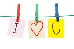 Kocham Ciebie zdjęcia stock