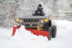 pługu śnieg Fotografia Royalty Free