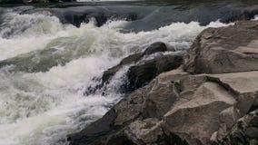 Płynąć jasnego woda rzeczna strumienia zbiory wideo