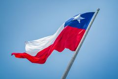 Płynąć, lata Chilian flaga Obraz Stock