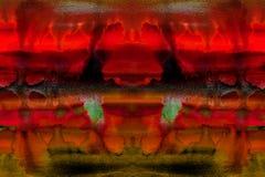 Płynąć plamy farba akwarela bieg na papierze ilustracja wektor