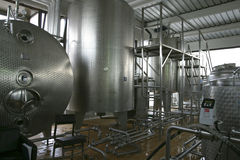 płynne przemysłowych zbiorników zasobnikowych zdjęcie royalty free