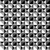 Płynnie powtarzalny czarny i biały mozaika wzór Tessellati ilustracja wektor