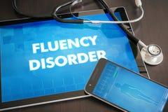 Płynność nieładu diagnozy medyczny conc (komunikacyjny nieład) obraz stock