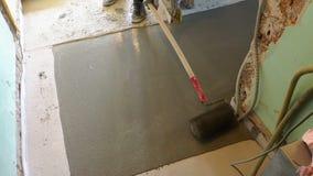 PÅ'yta betonowa na kablu grzewczym zbiory wideo