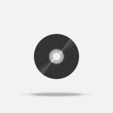 Płyta kompaktowa cd płaska ikona z cieniem Obraz Stock