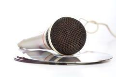 płyta kompaktowa kłaść mikrofon obraz royalty free