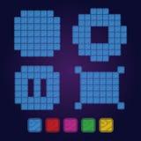Płytek i granic elementy Różni kształty gry deska Zdjęcia Stock