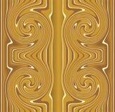 Płytka z złocistym kłębowisko motywem Obraz Stock