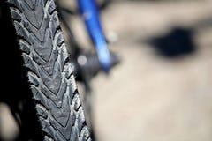 Płytki ostrości zakończenie up rowerowa opona lub opona Zdjęcie Stock