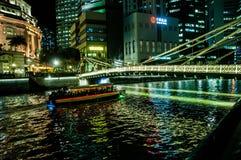 Pływać statkiem Singapore wodę Obrazy Royalty Free