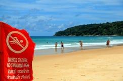 Pływać zakazuje Fotografia Stock