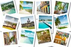 Pływa statkiem wspominki na fotografiach - lato karaibscy wakacje zdjęcie stock