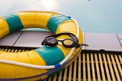 Pływaccy szkła Zdjęcia Royalty Free