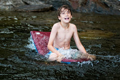 Pływacka chłopiec Obraz Stock