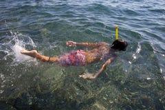 Pływacka chłopiec Obraz Royalty Free