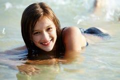 Pływacka dziewczyna fotografia royalty free