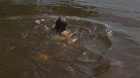 Pływacka dziewczyna swobodny ruch zbiory wideo