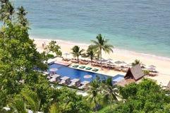 Pływacki basen i plaża fotografia royalty free