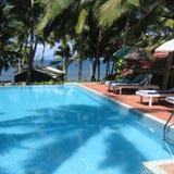 Pływacki basen w Kovalam zdjęcie stock
