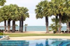 Pływacki basen w miejscowościach nadmorskich Fotografia Royalty Free